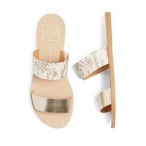 DV8 Jovie Two Strap Slide Sandal